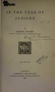 Cover of: In the year of jubilee