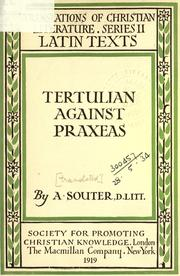 Cover of: Against Praxeas