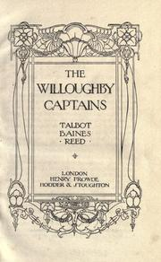Cover of: The Willoughby captains: a school story