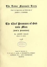 Cover of: The chief promises of God unto man