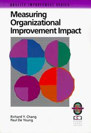 Cover of: Measuring organizational improvement impact