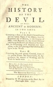 Cover of: The history of the Devil, ancient and modern