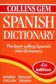 Cover of: Collins Gem Spanish Dictionary Spanish, English English, Spanish