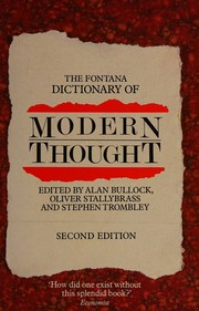Cover of: The Fontana Dictionary of Modern Thought