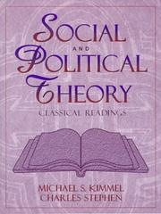 Cover of: Social and Political Theory