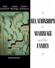 Cover of: Relationships in Marriage and Family (3rd Edition)