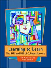 Cover of: Learning to Learn