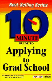 Cover of: Arco 10 Minute Guide to Applying to Grad School (10 Minute Guides)
