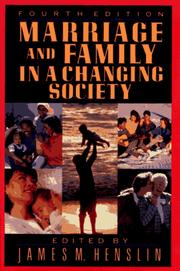 Cover of: Marriage and Family in a Changing Society