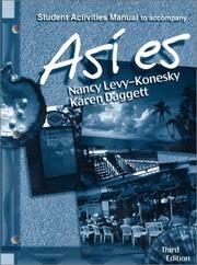 Cover of: Asi es, Student Activities Manual to Accompany