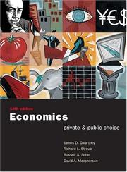 Cover of: Economics: Private and Public Choice with Xtra! CD-ROM and InfoTrac College Edition (Economics: Private & Public Choice)