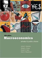 Cover of: Macroeconomics