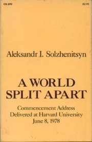 Cover of: A World Split Apart