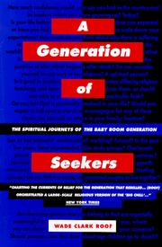 Cover of: A Generation of Seekers