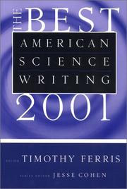 Cover of: The Best American Science Writing 2001 (Best American Science Writing)