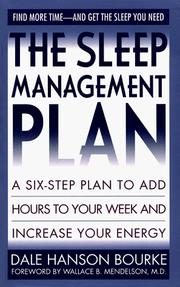 Cover of: Sleep Management Plan