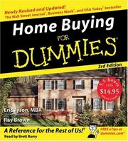 Cover of: Home Buying For Dummies CD 3rd Edition (For Dummies (Lifestyles Audio))