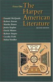Cover of: Harper American Literature, Volume I (2nd Edition)