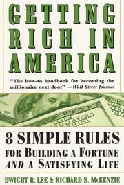 Cover of: Getting Rich In America