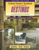 Cover of: Student Viewer's Handbook to Accompany Destinos: An Introduction to Spanish