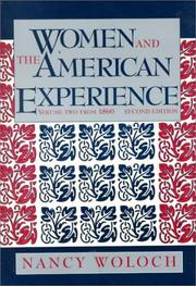 Cover of: Women & the American Experience (Women & the American Experience Vol. 1)