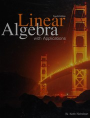 Cover of: Linear Algebra with Applications
