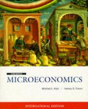 Cover of: Microeconomics (McGraw-Hill International Editions)