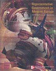 Cover of: Representative Government in Modern Europe