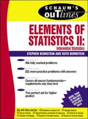 Cover of: Schaum's Outline of Elements of Statistics II