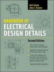 Cover of: Handbook of electrical design details