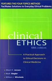 Cover of: CLINICAL ETHICS