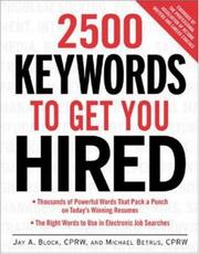 Cover of: 2500 Keywords to Get You Hired