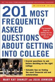 Cover of: Best Answers to the 201 Most Frequently Asked Questions about Getting into College