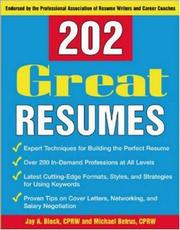 Cover of: 202 Great Resumes