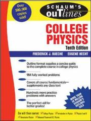Cover of: Schaum's Outline of College Physics, 10th edition (Schaum's Outlines)
