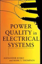 Cover of: Power Quality in Electrical Systems