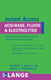Cover of: Acid-base, fluids and electrolytes