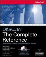 Cover of: Oracle9i
