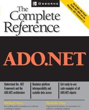 Cover of: ADO.NET
