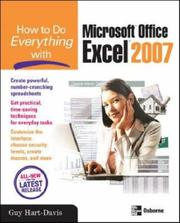 Cover of: How to Do Everything with Microsoft Office Excel 2007 (How to Do Everything)