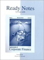 Cover of: Ready Notes to accompany Fundamentals of Corporate Finance