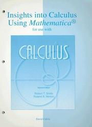 Cover of: Insights Into Calculus Using Mathematica
