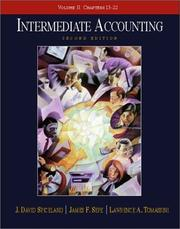 Cover of: Intermediate Accounting, Volume 2, Chapters 13-22