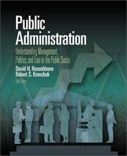 Cover of: Public Administration