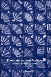 Cover of: Early American Women