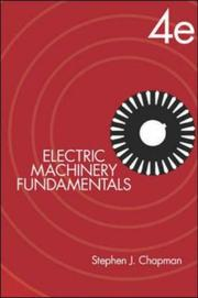 Cover of: Electric Machinery Fundamentals (McGraw-Hill Series in Electrical and Computer Engineering)