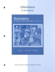 Cover of: Workbook/Laboratory Manual to accompany Kontakte
