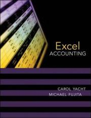 Cover of: Excel Accounting