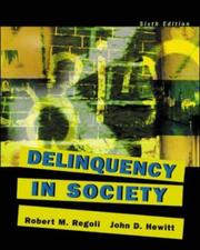 Cover of: Delinquency in Society