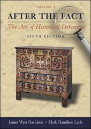 Cover of: After the Fact, Volume I, The Art of Historical Detection CD